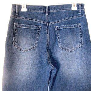 Gloria Vanderbilt Jeans Sz 8 Womens Dark Wash Blue